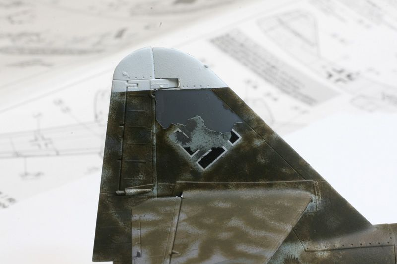 **** DONE 1/48 Tamiya Me 262 A-2 Heavy Hitters Group Build-091227-tail-paint-lift.jpg
