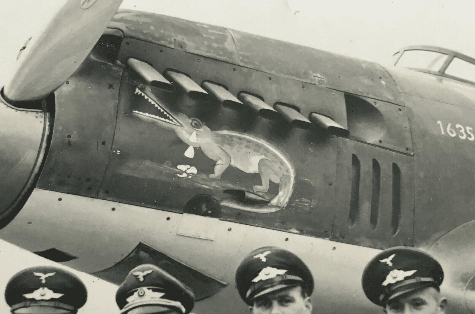 USAAF B25 Bomber Nose Art Wolf Bait  WW2 WWII 8x10