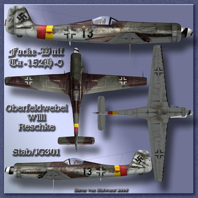 """Ta152H-1 """"Black 14"""" of JG301-3250-reshke-black-13-4-veiw.jpg"""