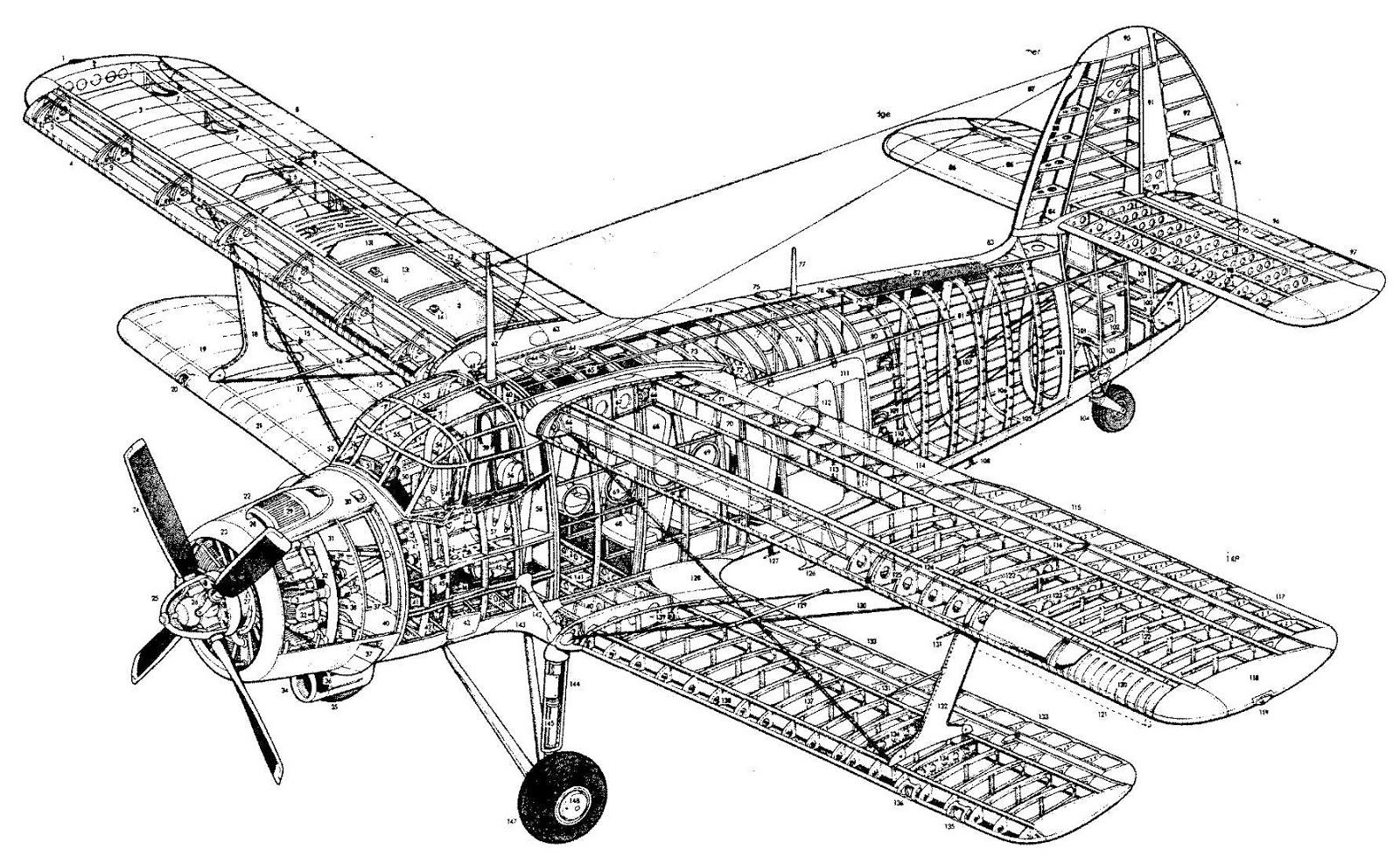 Who Has More Clear Picture Of An-2 Cutaway Drawing
