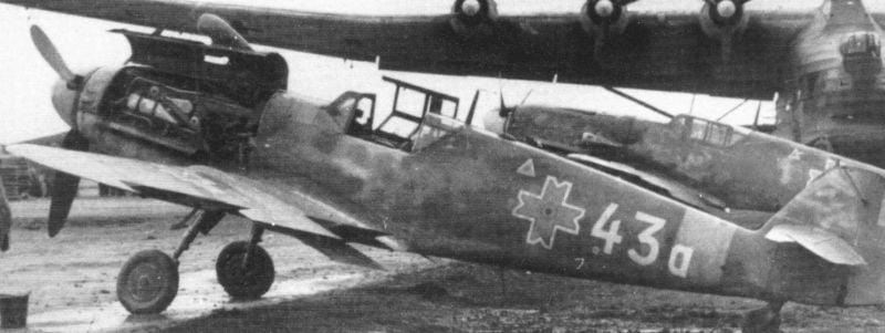 Romanian Air Force-bf-109-g6-white-43a-9fg-spring-44-jpg