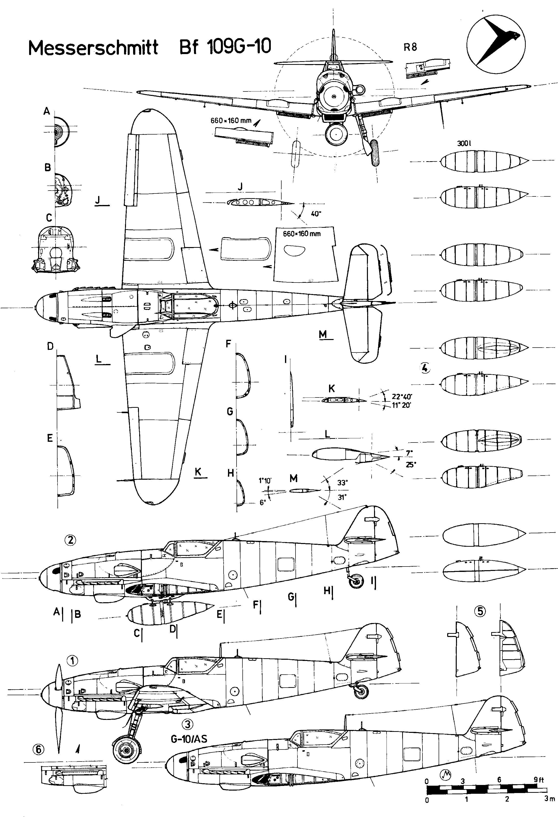 Bf 109 G Schematics Aircraft Of World War Ii