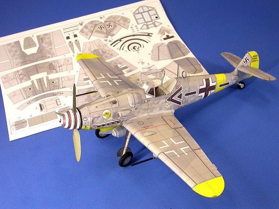 BF 109 Paper Model 1/33-bf1092-jpg