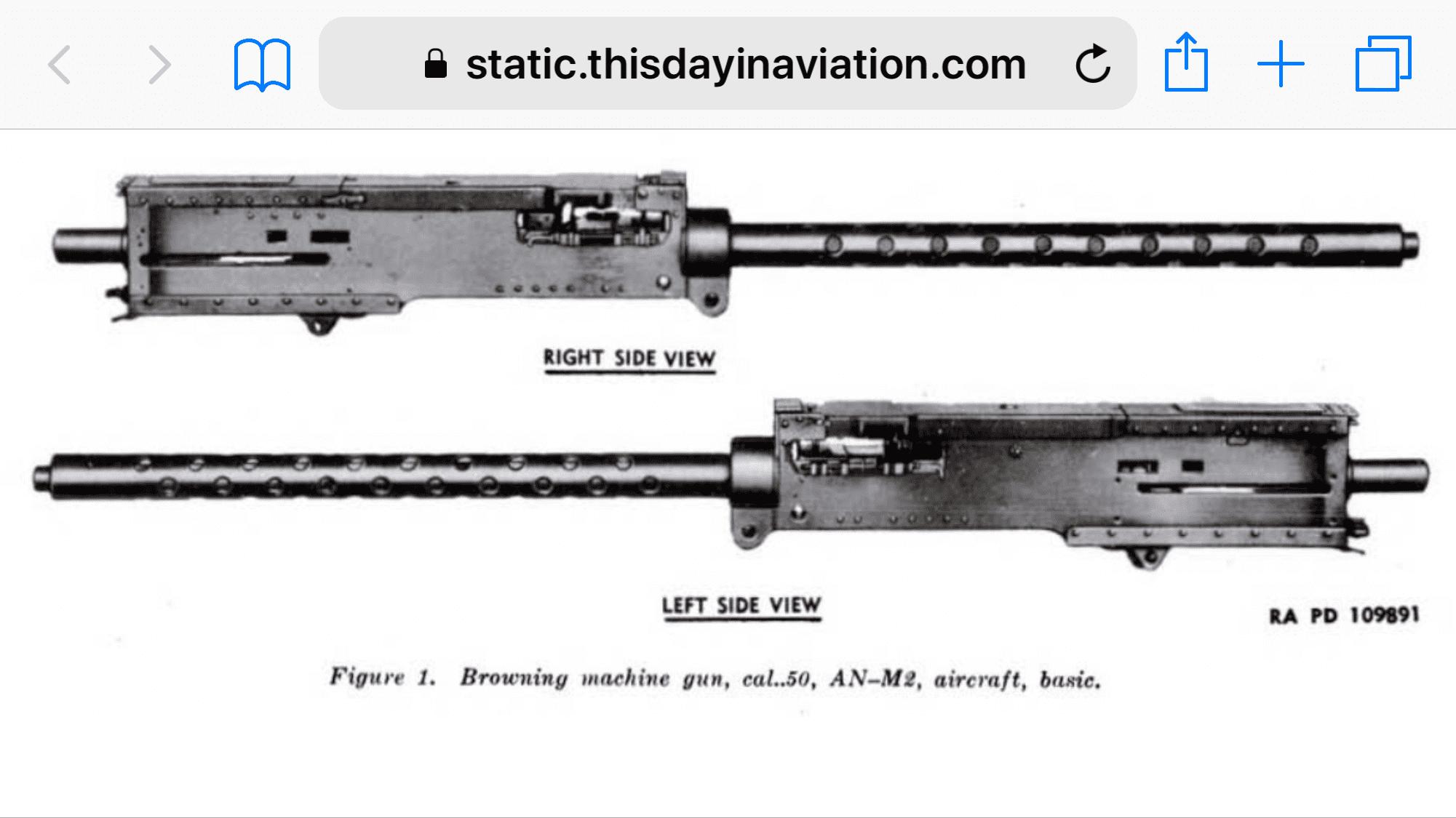 Browning  50 Cal M2 Aircraft info wanted | Aircraft of World