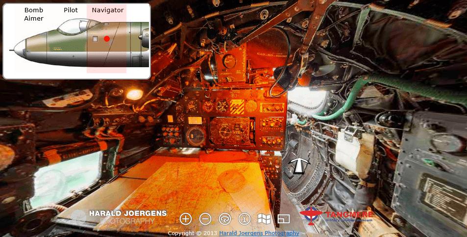 English Electric Canberra B.2 Virtual Tour - cockpit ... B2 Cockpit Panorama