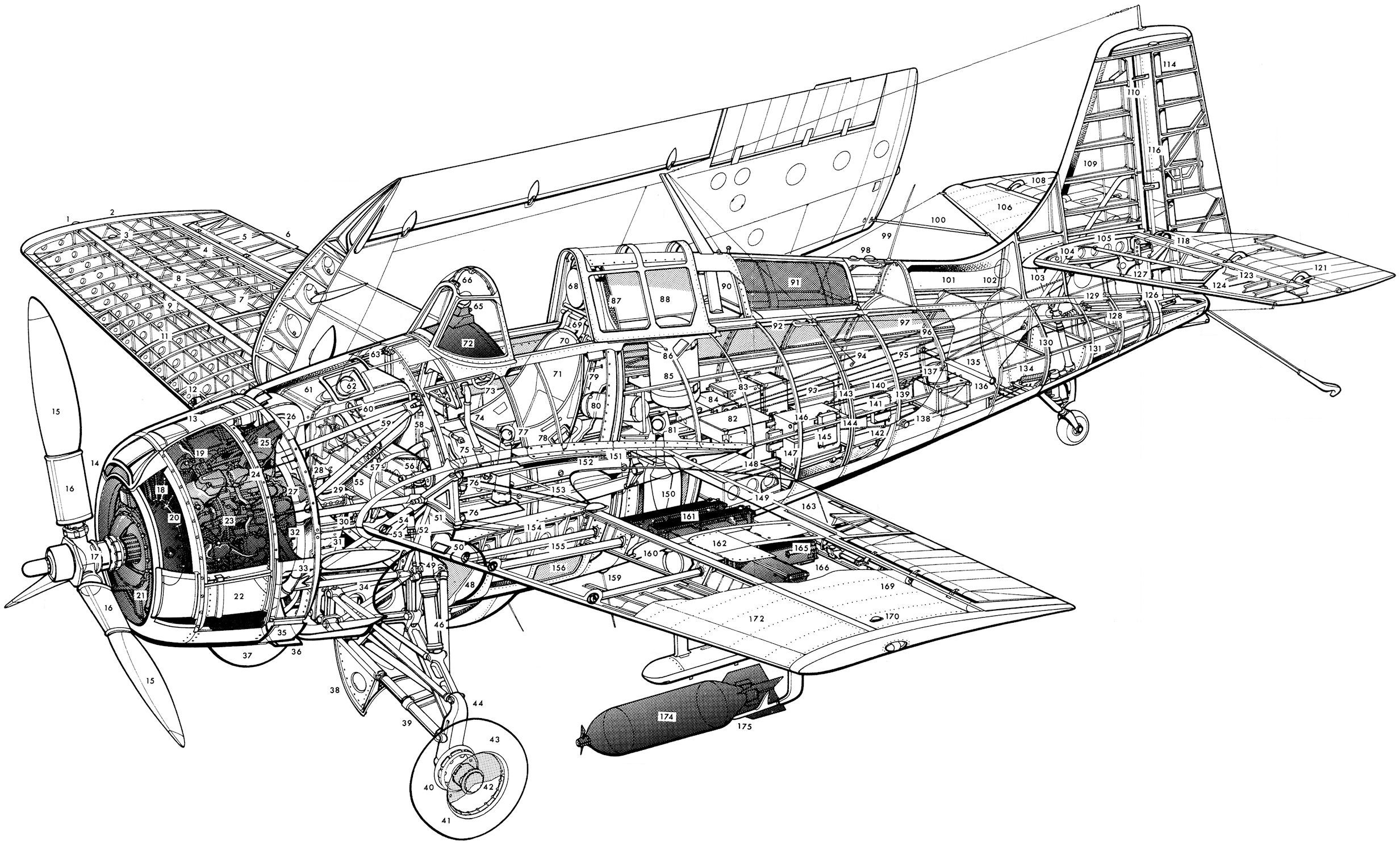 Gruman F4f Wildcat Help For Inside And Cutaway Drawings