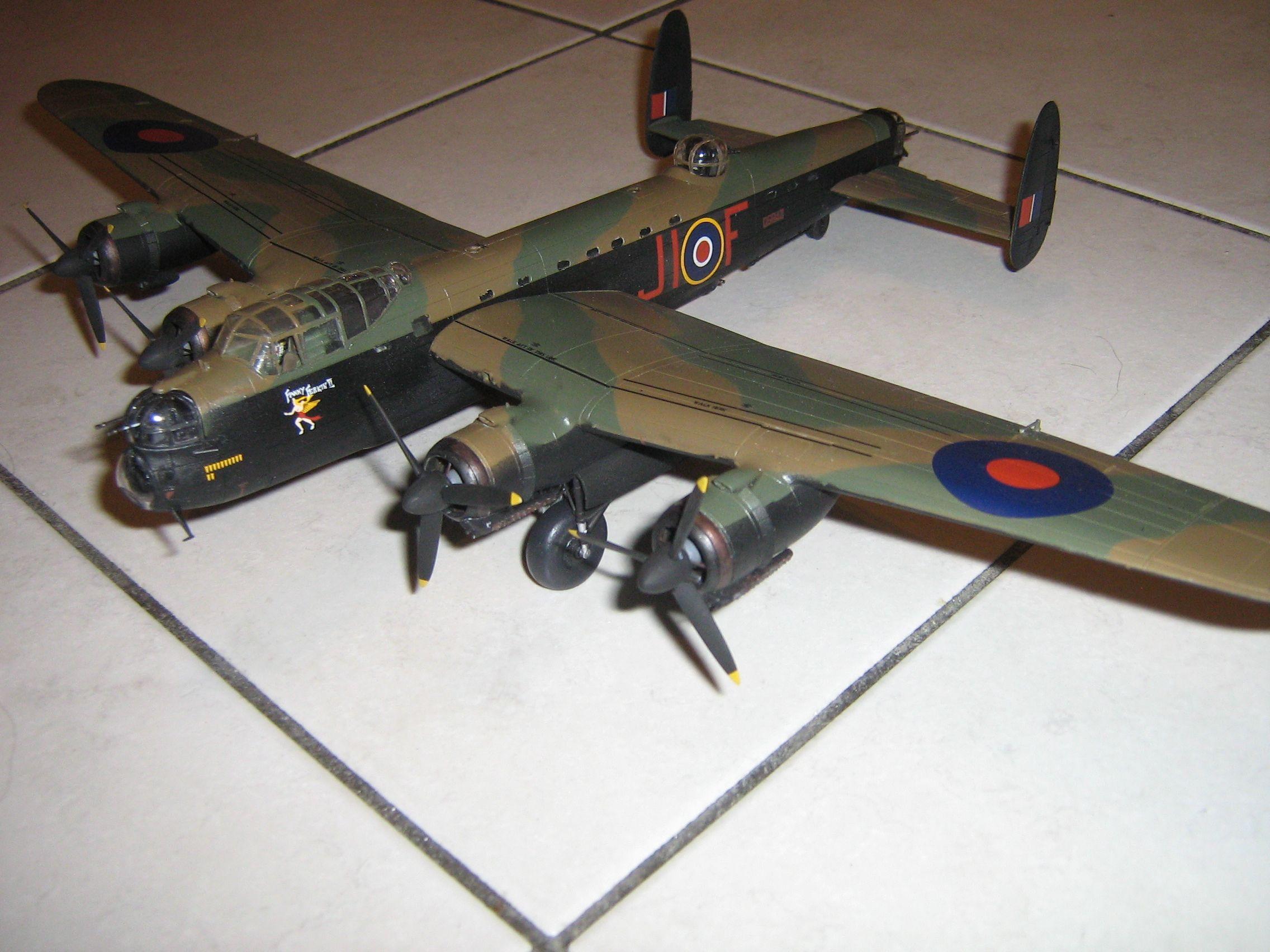 **** FINISHED: - 1/72 Avro Lancaster BII - Aircraft Nose Art GB.-finished-lancaster-1-jpg