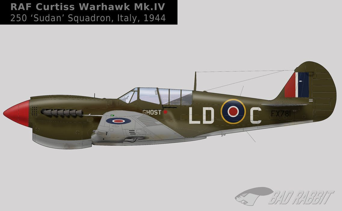 A camo scheme for Kittyhwak IV of 250 RAF (Sudan) Squadron in Italy