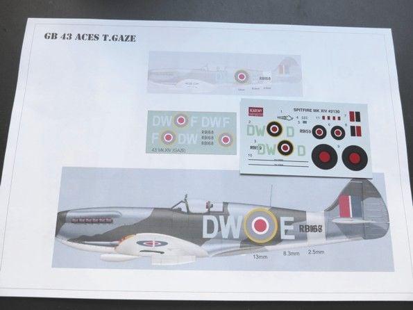 GB-43 1/72 Spitfire Mk  XIV - Aces' Aircraft of all Eras
