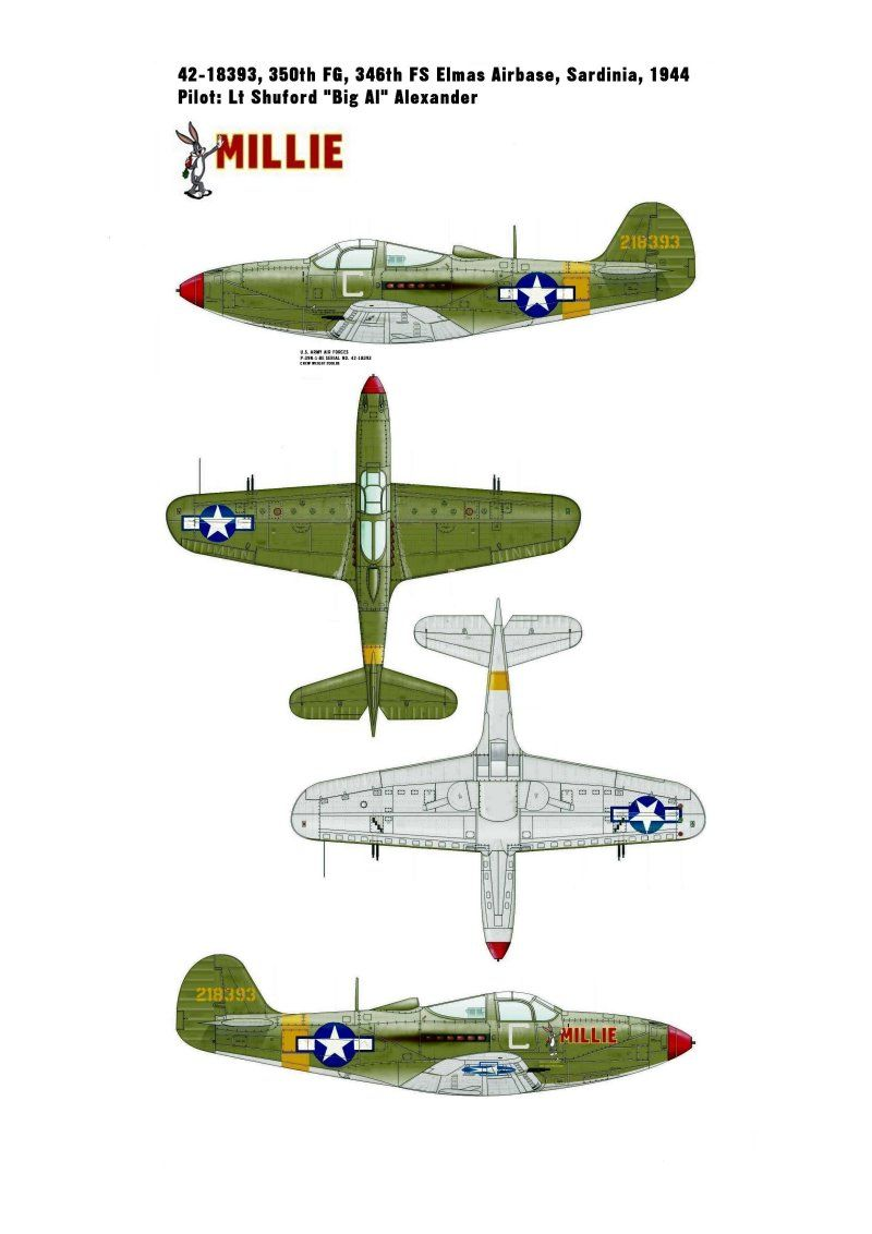 "***DONE: Bell p-39N Airacobra 42-18393 ""Millie"" 350th FG 346th FS Group Build-p-39n-1-millie-42-18393-profile-final.jpg"