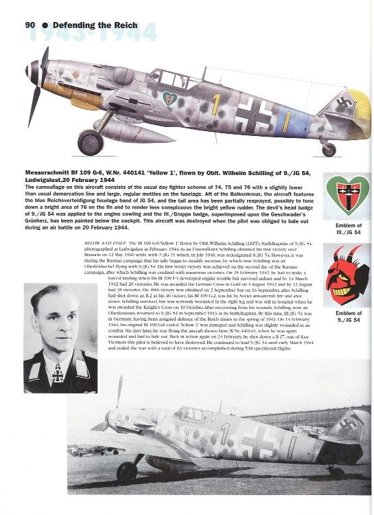 Bf 109G-6 Yellow 1 of 9./JG 54 Oblt Schilling Gruppe Build-project1a.jpg