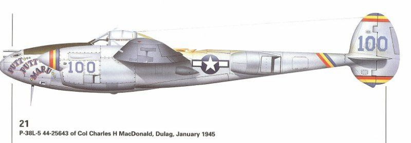 Lockheed P-38J Lightning Lt. Colonel Charles H. Macdonald - Aircraft of the Aces GB-putt_putt_maru-2.jpg