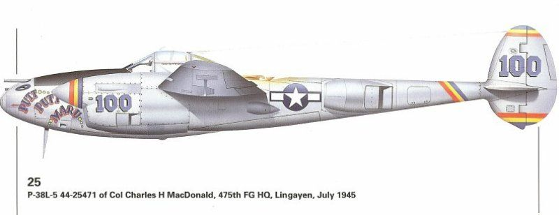 Lockheed P-38J Lightning Lt. Colonel Charles H. Macdonald - Aircraft of the Aces GB-putt_putt_maru-3.jpg