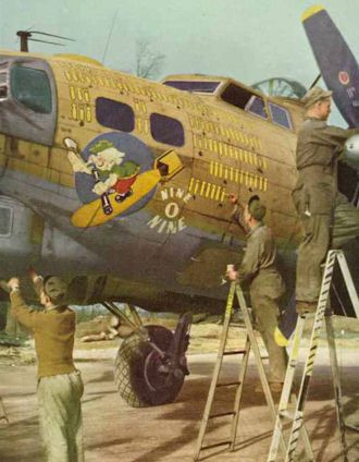 """Controversy over B-17G """"909"""" color -please comment-real_909_188-jpg"""