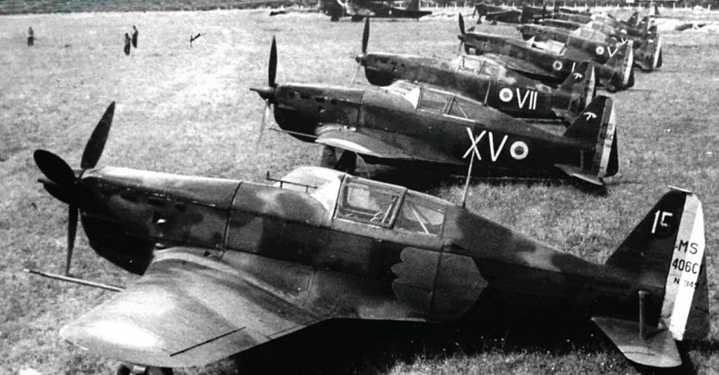 Aviation WW2 Morane Saulnier 406 du GC 1//7 des Forces Vichystes à Rayak 1941